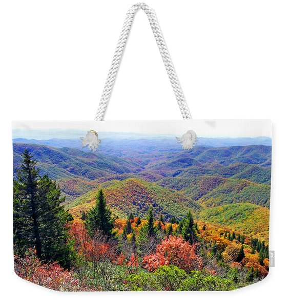 View From Devil's Courthouse Rock Weekender Tote Bag