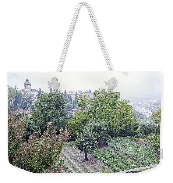 View From San Nicolas On A Rainy Day - Granada - Spain Weekender Tote Bag