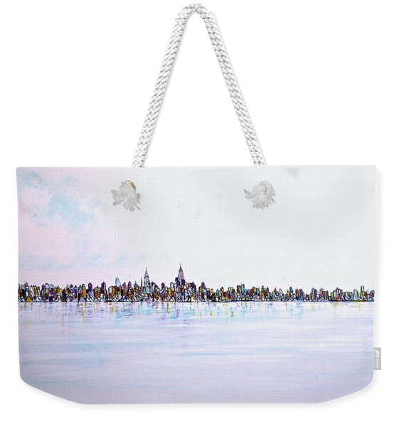 View From The Hudson Weekender Tote Bag