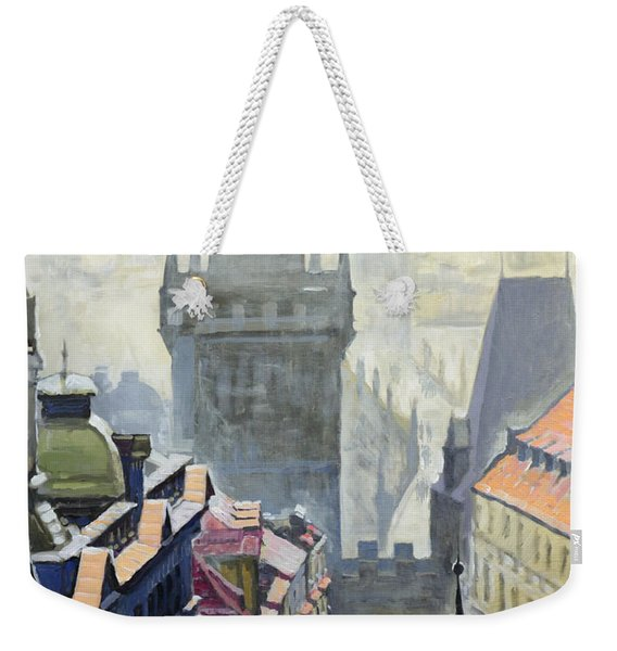 View From The Mostecka Street In The Direction Of Charles Bridge Weekender Tote Bag