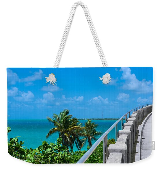 View From The Old Bahia Honda Bridge Weekender Tote Bag