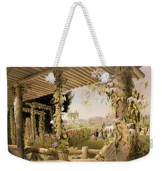 View From The Rustic Seat Shrublands Weekender Tote Bag
