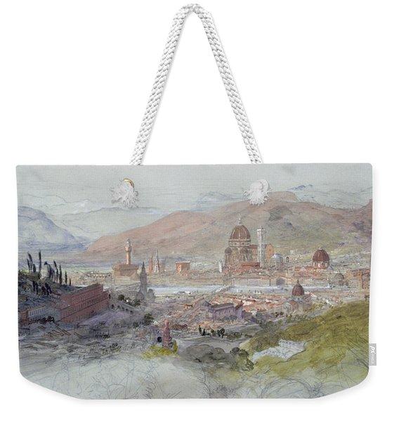 View Of Florence Weekender Tote Bag