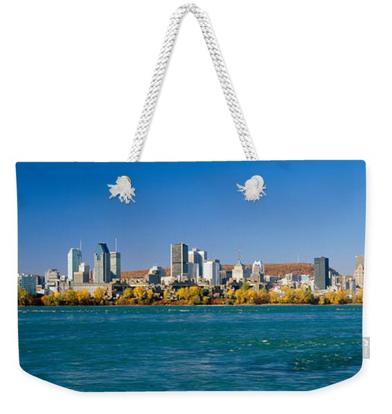 View Of Montreal Skyline And The Saint Weekender Tote Bag