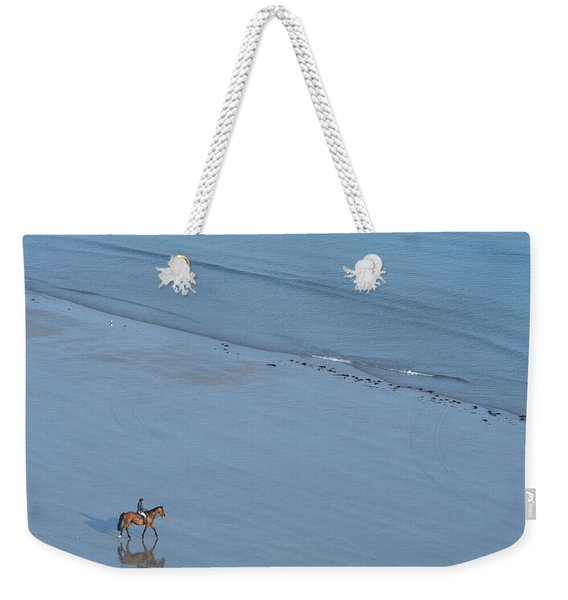 View Of Person Riding Horse Weekender Tote Bag