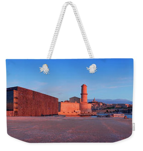 View Of The Palais Du Pharo, Fort Weekender Tote Bag