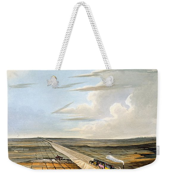 View Of The Railway Across Chat Moss Weekender Tote Bag