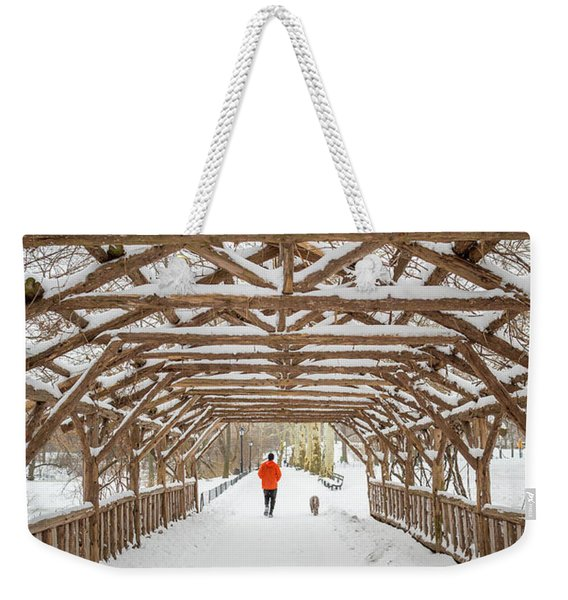 Views Of Central Park In New York Weekender Tote Bag