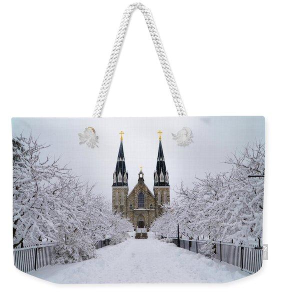 Villanova University In The Snow Weekender Tote Bag