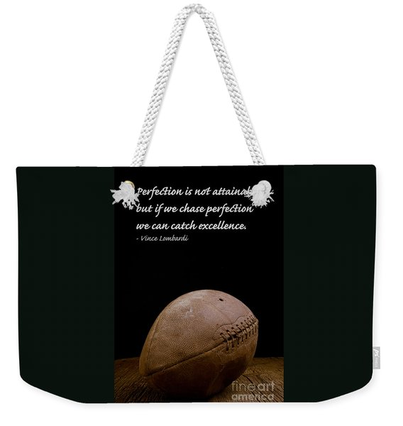 Vince Lombardi On Perfection Weekender Tote Bag