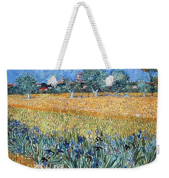 Field With Flowers Near Arles Weekender Tote Bag