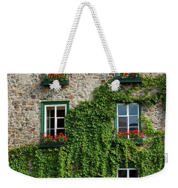 Vine Covered Stone House And Windows Weekender Tote Bag