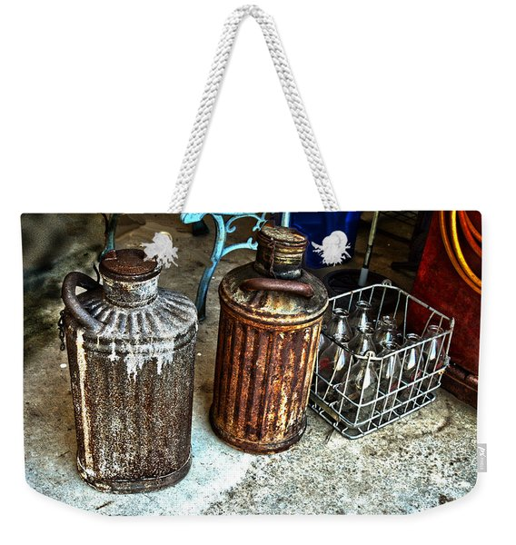 Hdr Vintage Art  Cans And Bottles Weekender Tote Bag