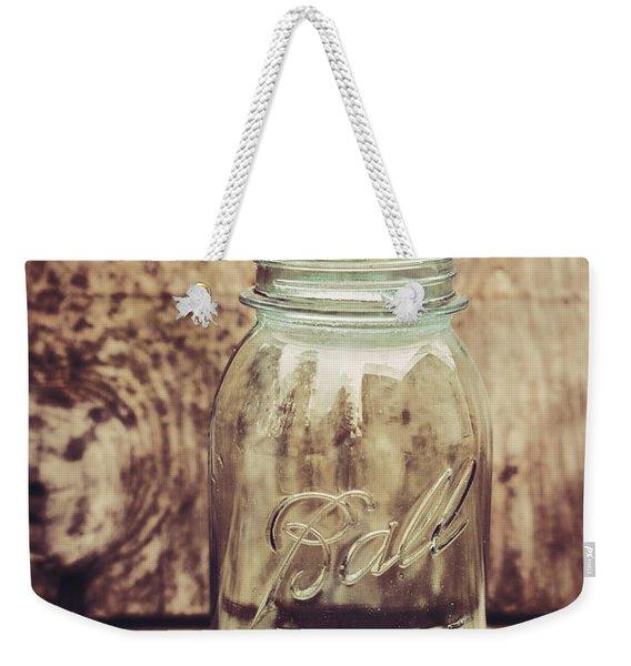 Vintage Ball Mason Jar Weekender Tote Bag