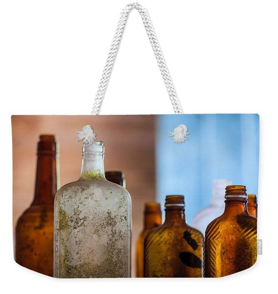 Vintage Bottles Weekender Tote Bag