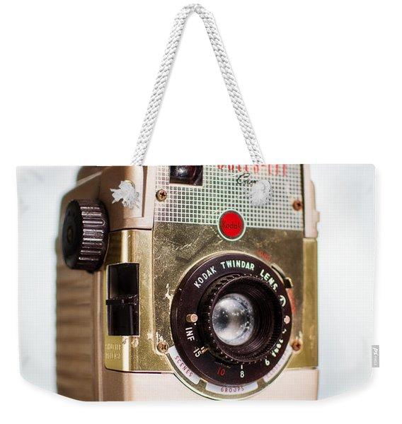 Vintage Brownie Bullseye Camera Weekender Tote Bag