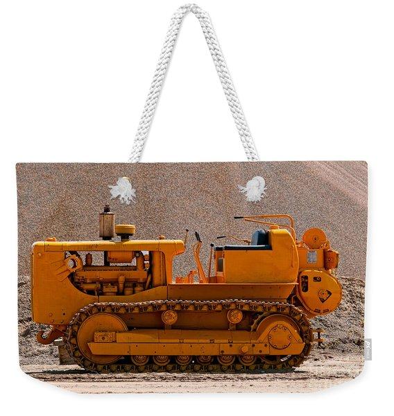 Vintage Bulldozer Weekender Tote Bag