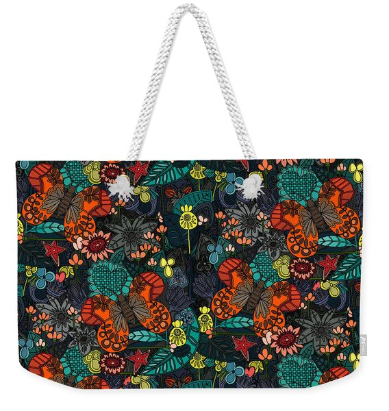 Vintage Butterfly Colour Weekender Tote Bag