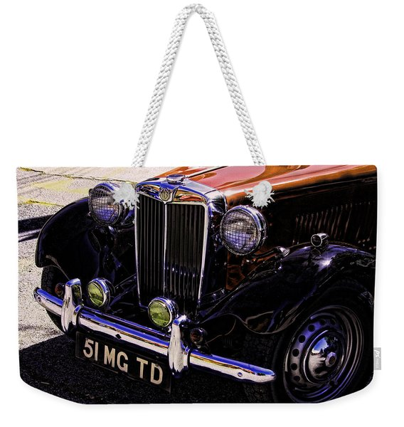 Vintage Car Art 51 Mg Td Copper Weekender Tote Bag
