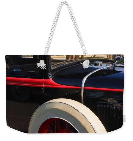 Weekender Tote Bag featuring the photograph Vintage Car by Susan Leonard