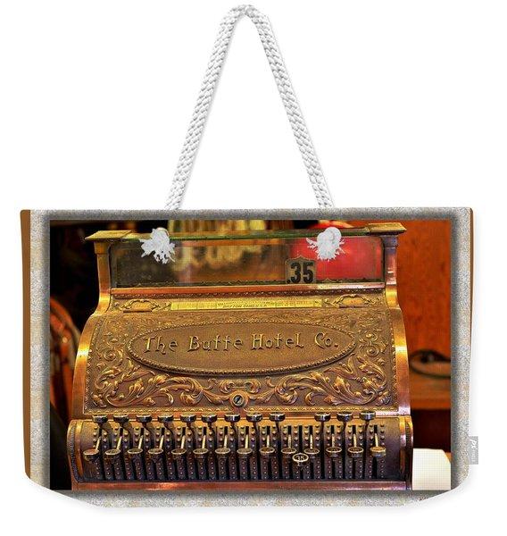 Vintage Cash Register Weekender Tote Bag