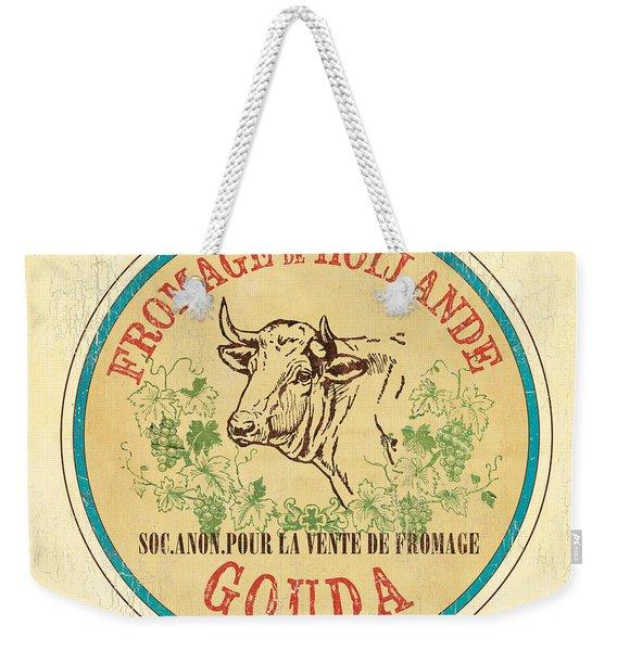 Vintage Cheese Label 1 Weekender Tote Bag