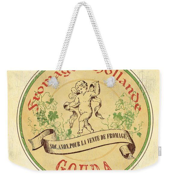 Vintage Cheese Label 2 Weekender Tote Bag