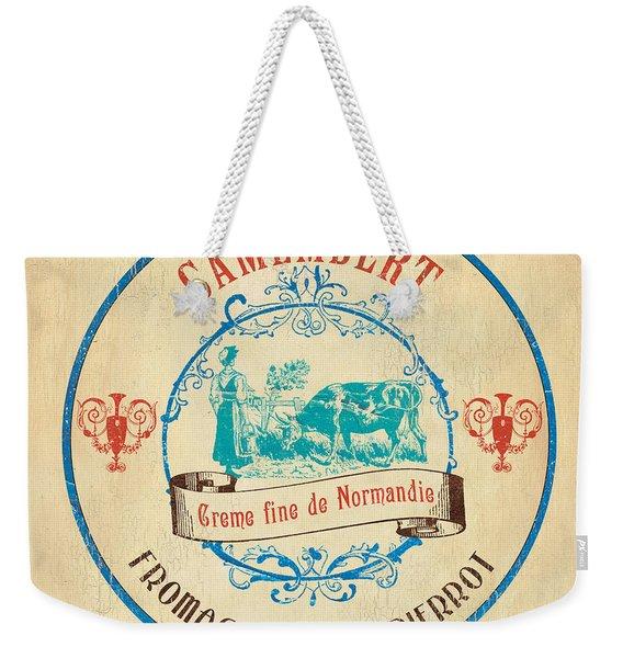 Vintage Cheese Label 3 Weekender Tote Bag