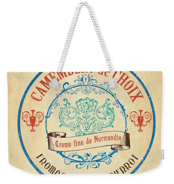 Vintage Cheese Label 4 Weekender Tote Bag