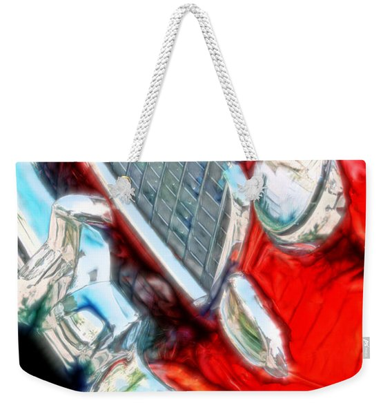 Vintage Chevy Art Alley Cat 3 Red Weekender Tote Bag