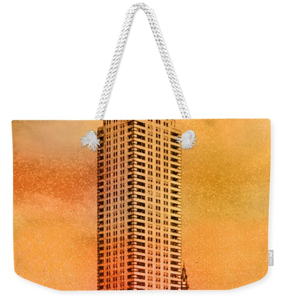 Vintage Chrysler Building Weekender Tote Bag