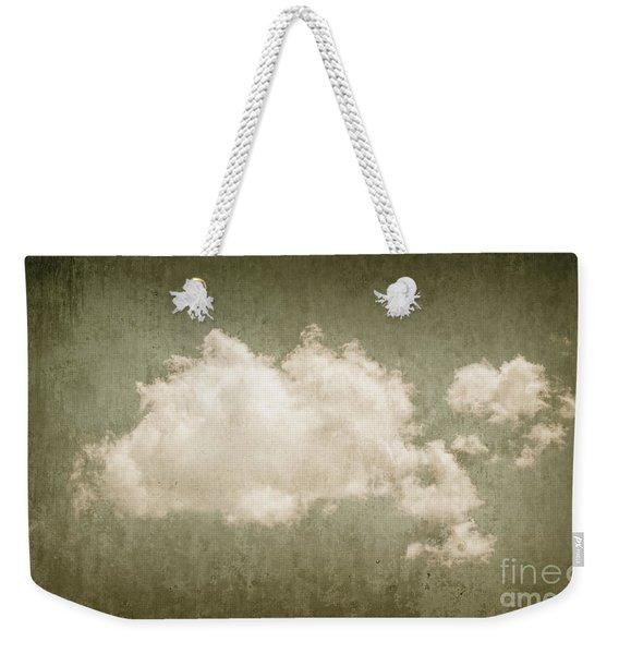 Vintage Clouds Background Weekender Tote Bag