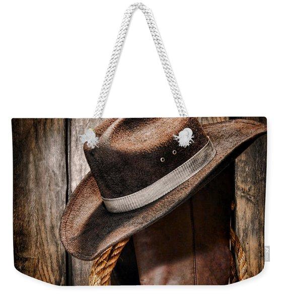 Vintage Cowboy Boots Weekender Tote Bag