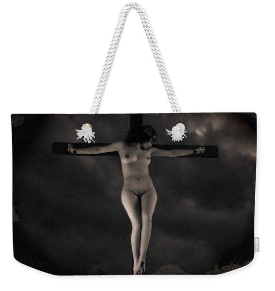 Vintage Crucifixion Weekender Tote Bag