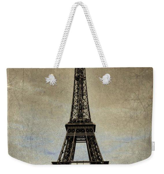 Vintage Eiffel Bronze Weekender Tote Bag