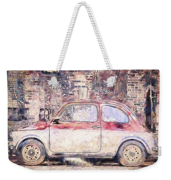 Vintage Fiat 500 Weekender Tote Bag