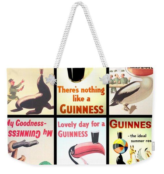 Vintage Guinness  Weekender Tote Bag
