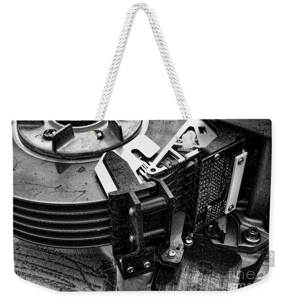 Vintage Hard Drive Weekender Tote Bag