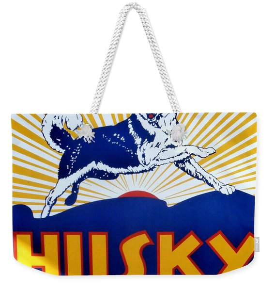 Vintage Husky Sign Weekender Tote Bag
