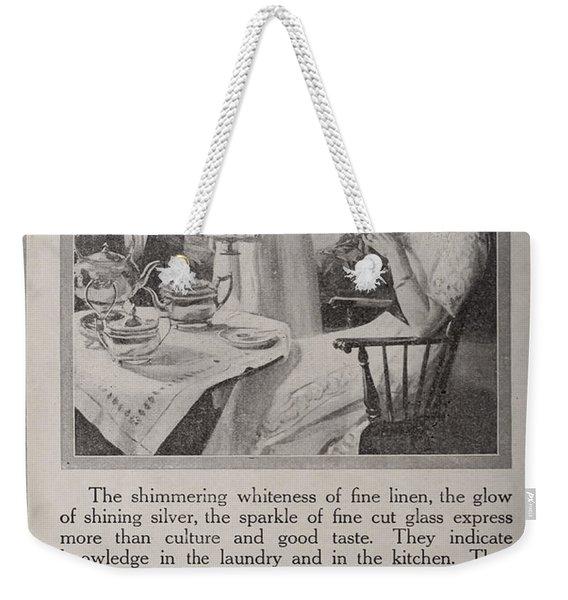 Vintage Ivory Soap Ad Weekender Tote Bag