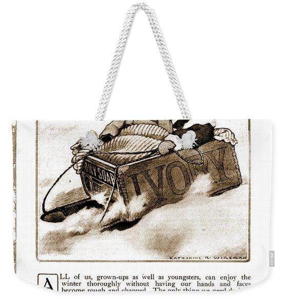 Vintage Ivory Soap Advert Weekender Tote Bag