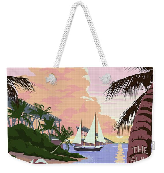 Vintage Key West Travel Poster Weekender Tote Bag
