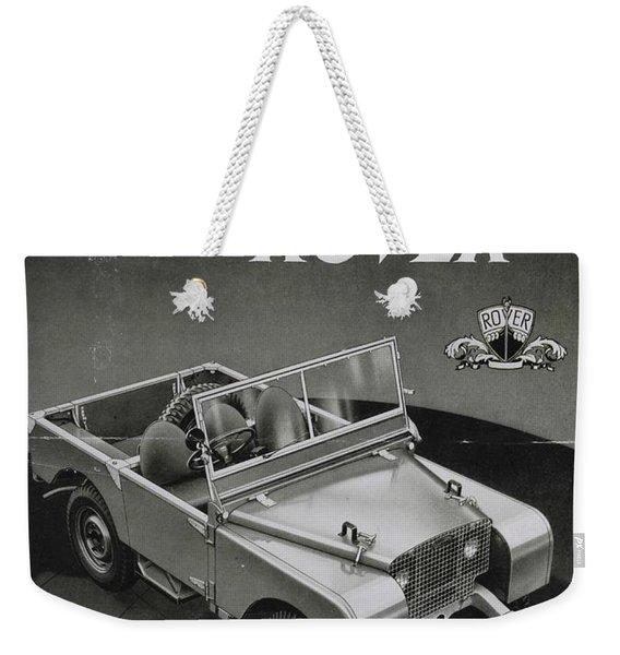 Vintage Land Rover Advert Weekender Tote Bag