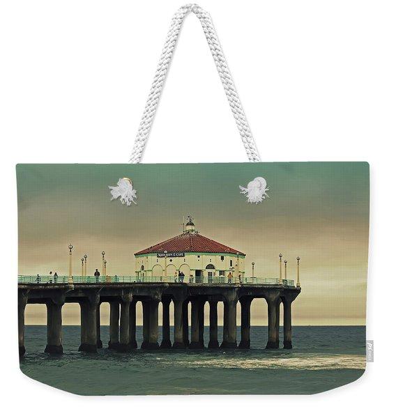 Vintage Manhattan Beach Pier Weekender Tote Bag