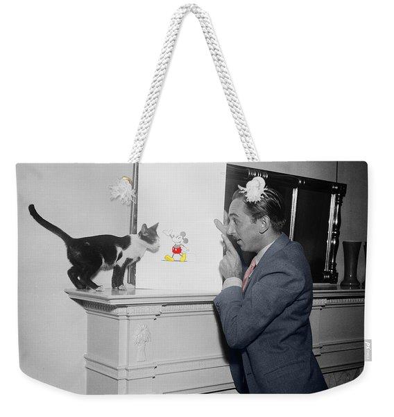 Vintage Mickey Mouse Weekender Tote Bag