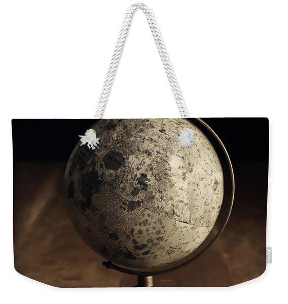Vintage Moon Globe Weekender Tote Bag