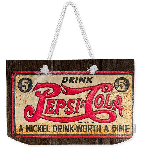 Vintage Pepsi Cola Ad Weekender Tote Bag