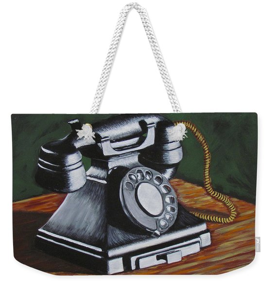 Vintage Phone 2 Weekender Tote Bag