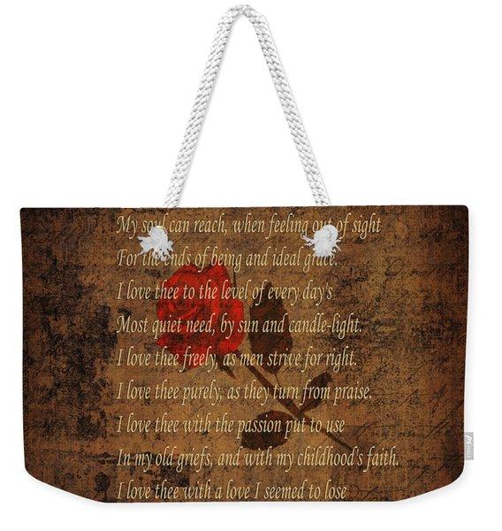 Vintage Poem 4 Weekender Tote Bag