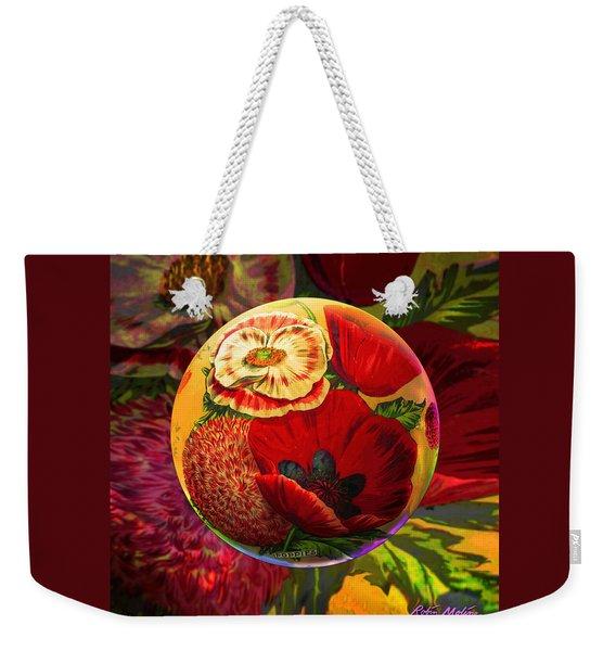 Vintage Poppy Sphere Weekender Tote Bag